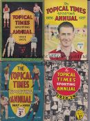LITTLEWOODS / TOPICAL TIMES A collection of 4 Littlewoods Football Annuals 1933/34 to 1936/37 and 15