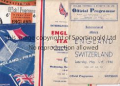 ENGLAND Four England home porogrammes v Switzerland at Chelsea 1946, Italy at Tottenham 1949 (