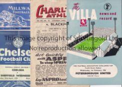 PROGRAMME MISCELLANY Twenty one programmes 1948-2015 to include Charlton v Blackpool 1947/48, Past v