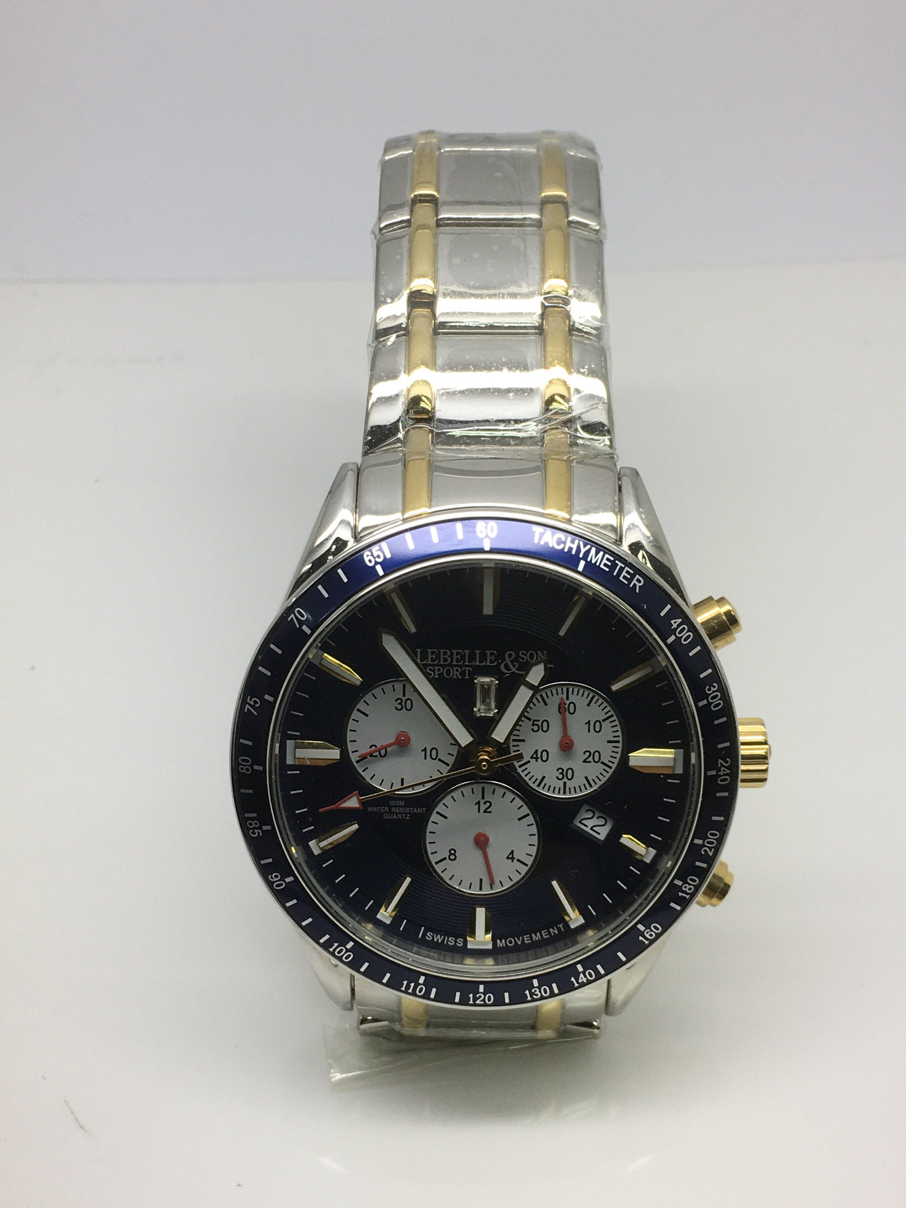Lot 36 - A gents Lebelle sports chronograph watch.