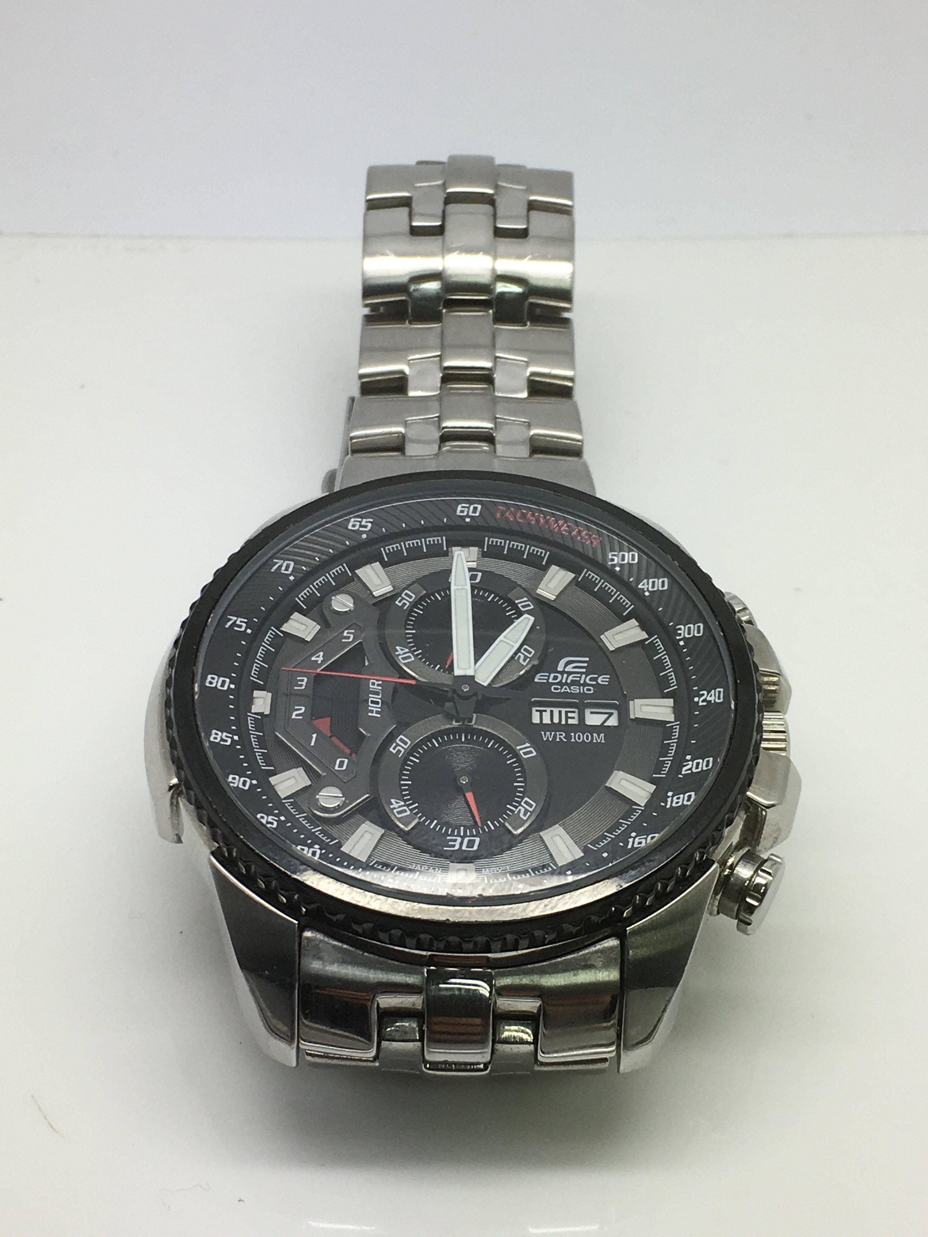 Lot 34 - A gents Casio Edifice chronograph watch.