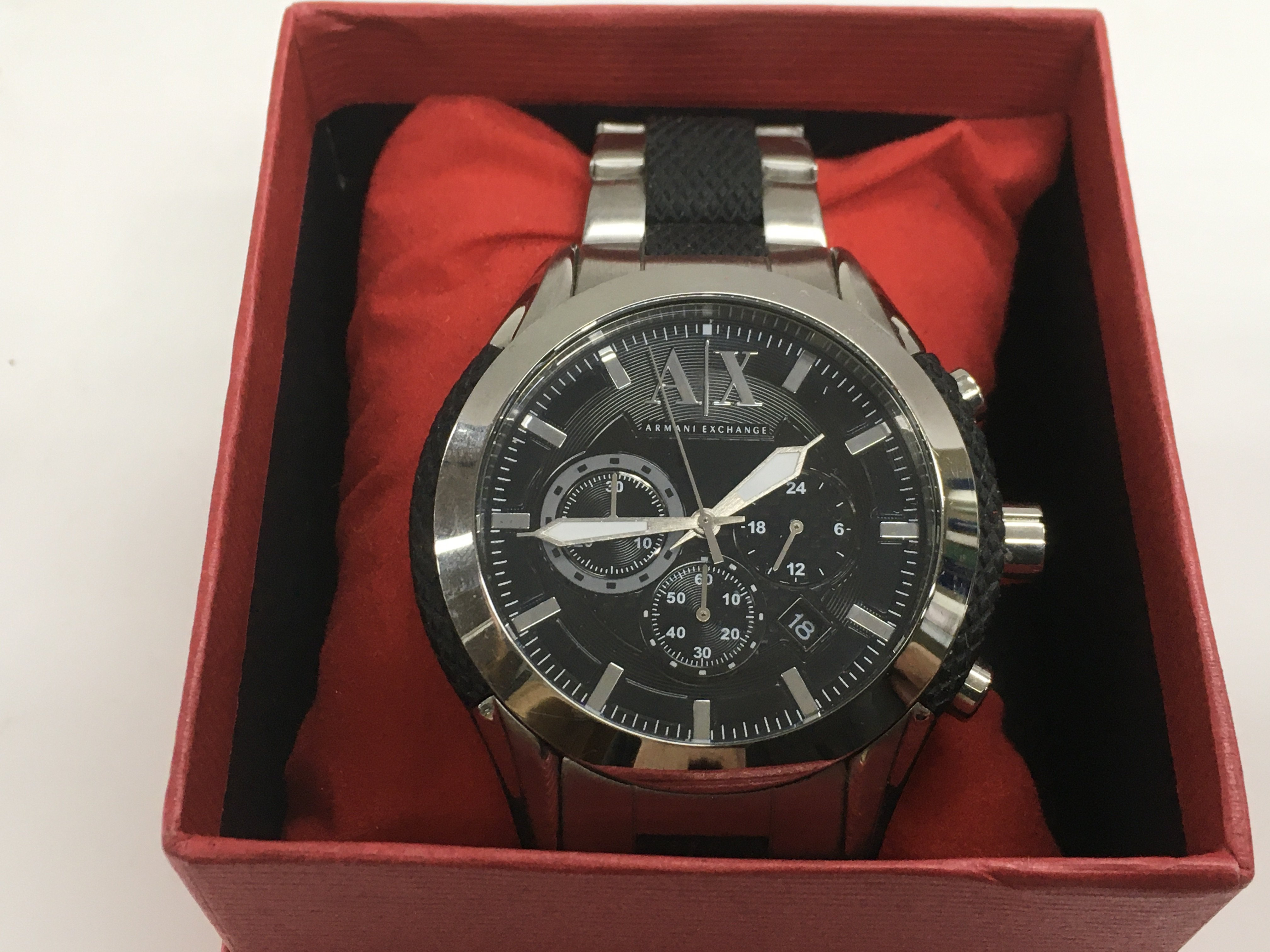 Lot 54 - A gents Armani exchange chronograph watch.