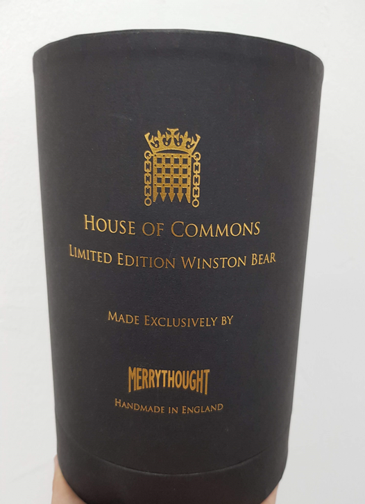Lot 6 - House of Commons Limited edition Teddy - limited edition Winston bear, handmade in England,