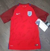 Signed England Away shirt - full squad signed away shirt, with certificate of authenticity to