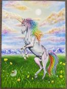 "Hand painted Unicorn Canvas - Yvonne Jack Art 20x16"" canvas acrylic hand painted canvas available as"