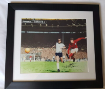 """Signed Geoff Hurst 66 World Cup Picture - Signed """"4th Goal"""" photo - England V Germany World Cup"""