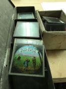 A collection of magic lantern glass slides - NO RE