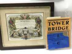 A framed ornate invitation / ticket to the 1894 op