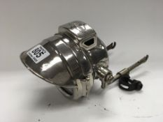 A vintage Scharlack chrome plated motorcycle headl
