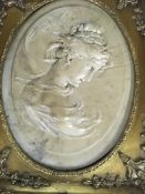 Two reproduction gilt framed classical style plaqu