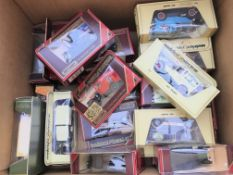 A collection of matchbox yesteryear boxed cars