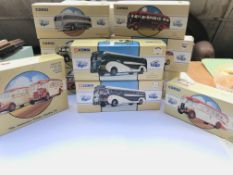 A collection of boxed Corgi Classic busses ect.(10