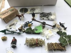 A collection of Britons farm yard lead figures etc