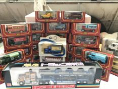 A collection of boxed Cameo Diecast cars and other