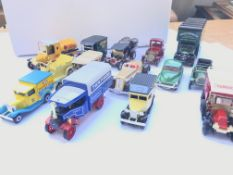 A collection of loose die cast cars
