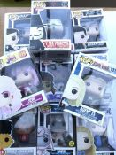 A collection of pop figures.