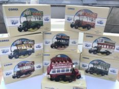 A collection of Corgi public transport. Boxed.