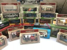 A collection of various boxed cars ect.(23)