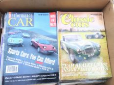 A collection of motorway magazines.