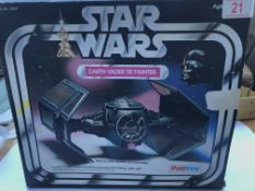 A Palitoy boxed Darth Vader Tie Fighter.