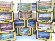 A collection of Corgi busses(15)
