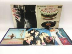 Five Rolling Stones LPs comprising 'Let It Bleed',