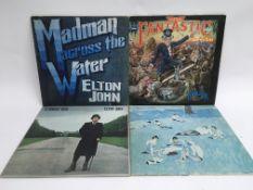 Four Elton John LPs including 'Captain Fantastic',