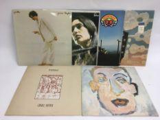 Six folk LPs bu various artists including Bob Dyla