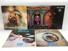 Five rock, prog rock and avant garde LPs by variou