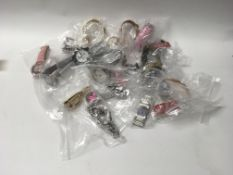A job lot of 20 new mixed wrist watches