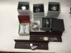 A job lot of 10 new mixed wrist watches