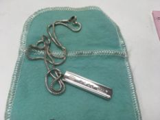 A fully hallmarked Tiffany & Co sterling silver pe