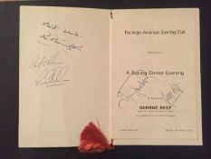 Signed Moore + Best Football Dinner Menu: Anglo American Sporting Club hosted a Boxing Dinner