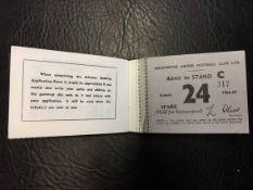 1966/67 Manchester United Football Season Ticket Book: From the season Man Utd won the 1st