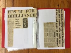 1971/72 Manchester United Original Newspaper + Match Reports: Collated to include some newspaper