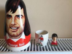 2007 Russian Doll Of George Best: Egg cup featuring George Best with a painted bust of George Best.