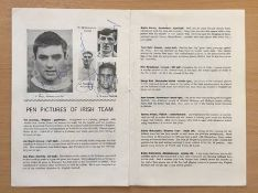 Fully Signed George Best International Debut Football Programme: Wales v Northern Ireland