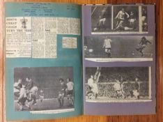 1971/72 Manchester United Football Scrapbook: Contains original newspaper match reports and