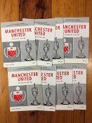 1967 Manchester United Australia Tour Set Of Football Programmes: Full set of 8 different match