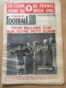 French Newspaper George Best Receives Trophy: Complete France Football Newspaper dated 22nd April