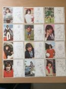 George Best Potato Crisps Promotional Cards: Series A No 1 -12. Complete set in mint condition.