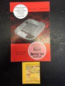 63/64 Manchester United v Sporting Club De Portugal Programme + Ticket: European Cup Winners Cup 3rd