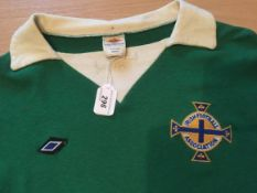 George Best Northern Ireland Match Worn Football Shirt: Northern Ireland v Coventry City 9th Oct