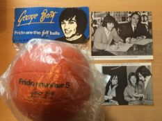 George Best Frido Master Five Football + Advert: Ball is in original clear plastic bag complete with