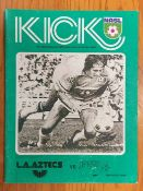 1976 Football Programme LA Aztecs v San Diego Jaws: George Best played for LA Aztecs in this short