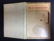 George Best Manchester United 1968 European Cup Final Gift: Radio in the form of a book. Presented