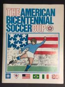 1975/76 George Best Team America Football Programme: American Bicentennial Tournament with George