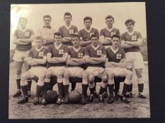 1962 Ireland Youth Team Photograph: From the England v Ireland Youth International Game measuring