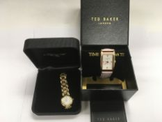 A boxed Ted Baker fashion watch and a Raymond Weil