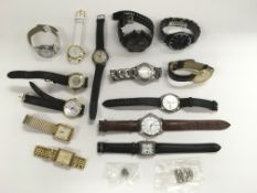 A collection of gents watches, various makes.
